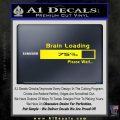 Brain Loading Decal Sticker Yellow Laptop 120x120