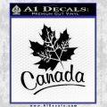 Canada Canadian Text Decal Sticker Black Vinyl 120x120