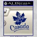 Canada Canadian Text Decal Sticker Blue Vinyl 120x120