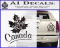 Canada Canadian Text Decal Sticker Carbon FIber Black Vinyl 120x97