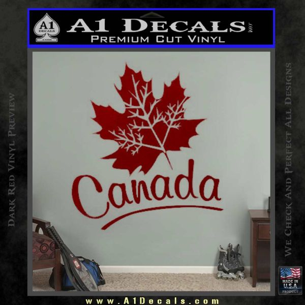 Canada Canadian Text Decal Sticker DRD Vinyl