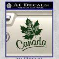 Canada Canadian Text Decal Sticker Dark Green Vinyl 120x120