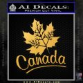 Canada Canadian Text Decal Sticker Gold Vinyl 120x120