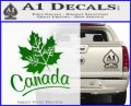 Canada Canadian Text Decal Sticker Green Vinyl Logo 120x97