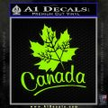 Canada Canadian Text Decal Sticker Lime Green Vinyl 120x120