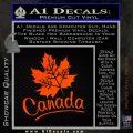 Canada Canadian Text Decal Sticker Orange Emblem 120x120