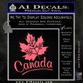 Canada Canadian Text Decal Sticker Pink Emblem 120x120