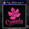 Canada Canadian Text Decal Sticker Pink Hot Vinyl 120x120