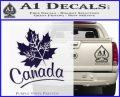 Canada Canadian Text Decal Sticker PurpleEmblem Logo 120x97