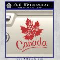 Canada Canadian Text Decal Sticker Red 120x120