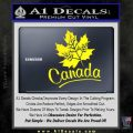 Canada Canadian Text Decal Sticker Yellow Laptop 120x120