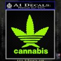 Cannabis Adidas Decal Sticker Lime Green Vinyl 120x120