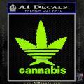 Cannabis Adidas Decal Sticker Lime Green Vinyl 120x120