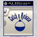 Catch And Release Bobber Decal Sticker Blue Vinyl 120x120