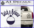 Catch And Release Bobber Decal Sticker PurpleEmblem Logo 120x97