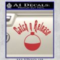 Catch And Release Bobber Decal Sticker Red 120x120