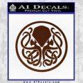 Cthulhu Emblem Necronomicon D1 Decal Sticker BROWN Vinyl 120x120