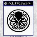 Cthulhu Emblem Necronomicon D1 Decal Sticker Black Vinyl 120x120