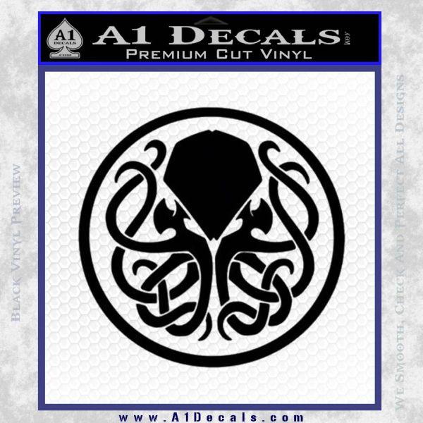 Cthulhu Emblem Necronomicon D1 Decal Sticker Black Vinyl