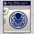Cthulhu Emblem Necronomicon D1 Decal Sticker Blue Vinyl 120x120