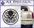Cthulhu Emblem Necronomicon D1 Decal Sticker Carbon FIber Black Vinyl 120x97