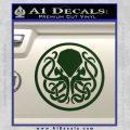 Cthulhu Emblem Necronomicon D1 Decal Sticker Dark Green Vinyl 120x120