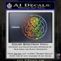 Cthulhu Emblem Necronomicon D1 Decal Sticker Glitter Sparkle 120x120