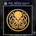Cthulhu Emblem Necronomicon D1 Decal Sticker Gold Vinyl 120x120