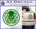 Cthulhu Emblem Necronomicon D1 Decal Sticker Green Vinyl Logo 120x97