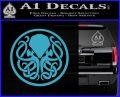 Cthulhu Emblem Necronomicon D1 Decal Sticker Light Blue Vinyl 120x97
