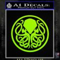 Cthulhu Emblem Necronomicon D1 Decal Sticker Lime Green Vinyl 120x120