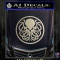 Cthulhu Emblem Necronomicon D1 Decal Sticker Metallic Silver Emblem 120x120