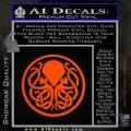 Cthulhu Emblem Necronomicon D1 Decal Sticker Orange Emblem 120x120