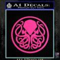 Cthulhu Emblem Necronomicon D1 Decal Sticker Pink Hot Vinyl 120x120