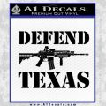 Defend Texas Decal Sticker Black Vinyl 120x120