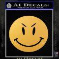 Devilish Smiley Face Decal Sticker 2 Pack Gold Vinyl 120x120
