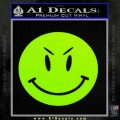 Devilish Smiley Face Decal Sticker 2 Pack Lime Green Vinyl 120x120
