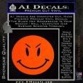 Devilish Smiley Face Decal Sticker 2 Pack Orange Emblem 120x120