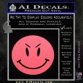 Devilish Smiley Face Decal Sticker 2 Pack Pink Emblem 120x120