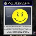Devilish Smiley Face Decal Sticker 2 Pack Yellow Laptop 120x120