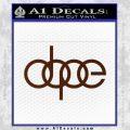Dope JDM Decal Sticker Audi BROWN Vinyl 120x120