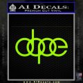 Dope JDM Decal Sticker Audi Lime Green Vinyl 120x120