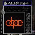 Dope JDM Decal Sticker Audi Orange Emblem 120x120