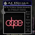 Dope JDM Decal Sticker Audi Pink Emblem 120x120