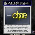 Dope JDM Decal Sticker Audi Yellow Laptop 120x120