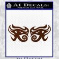 Eyes Of Horus Decal Stickers Rah 2Pk BROWN Vinyl 120x120