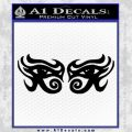 Eyes Of Horus Decal Stickers Rah 2Pk Black Vinyl 120x120
