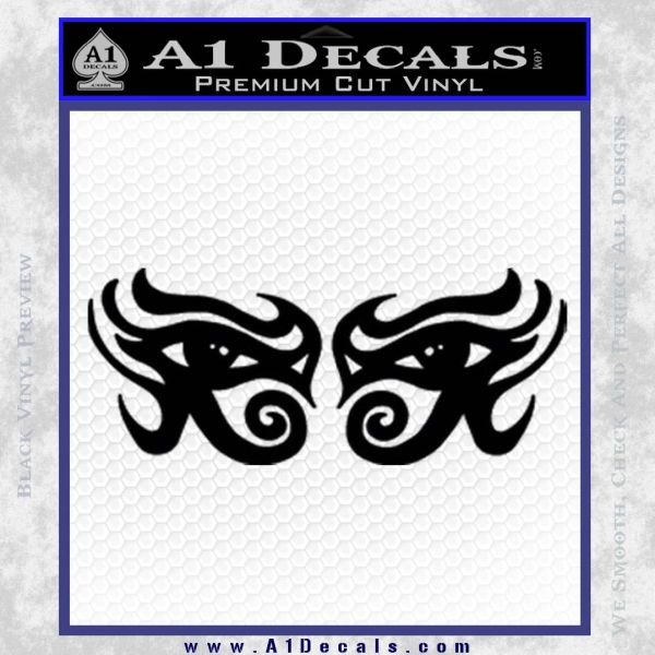 Eyes Of Horus Decal Stickers Rah 2Pk Black Vinyl