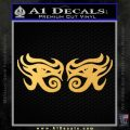 Eyes Of Horus Decal Stickers Rah 2Pk Gold Vinyl 120x120