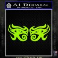 Eyes Of Horus Decal Stickers Rah 2Pk Lime Green Vinyl 120x120